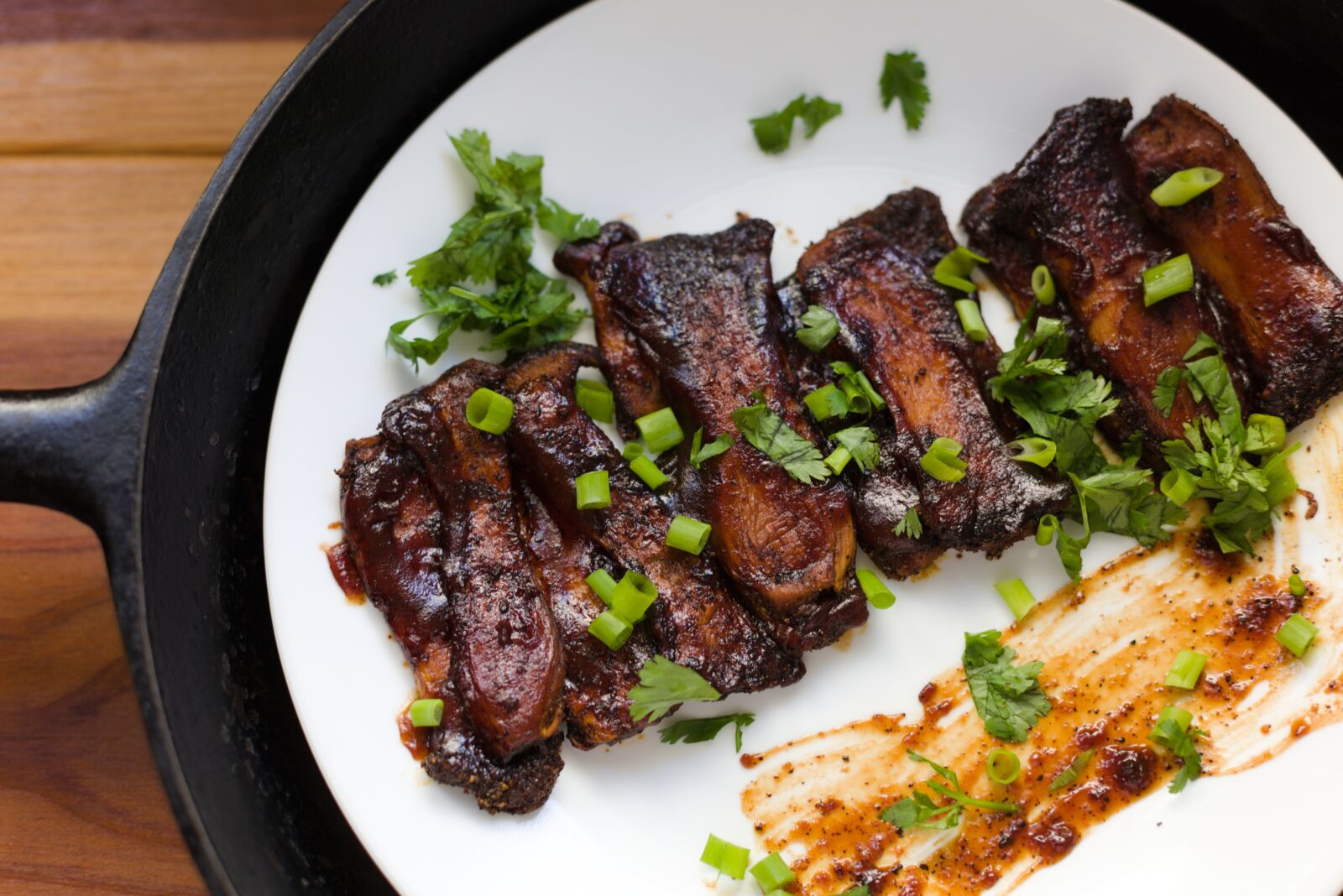 ribs on a plate
