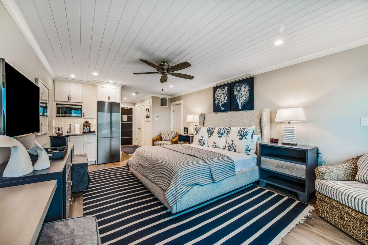 inside of nice condo bedroom
