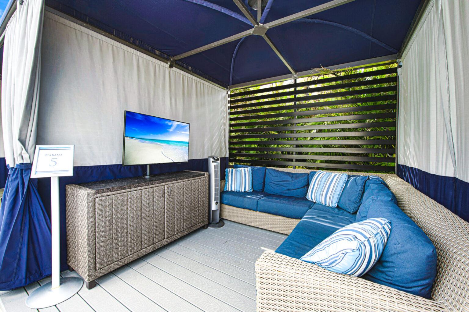 inside of cabana