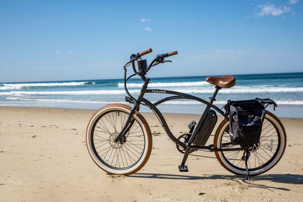 bike on anna maria island beach