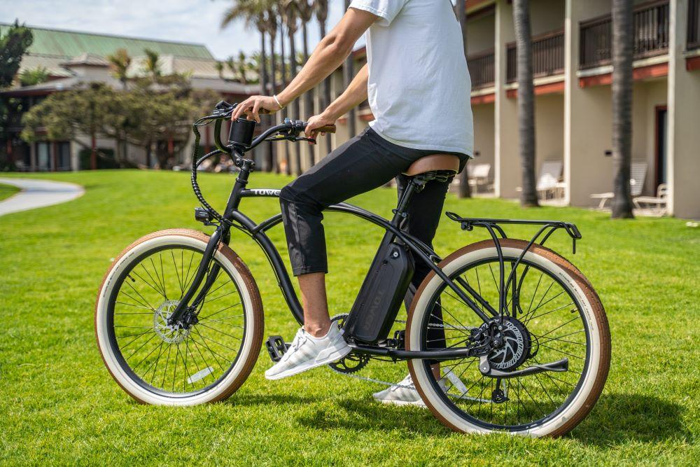 person on bike in anna maria island