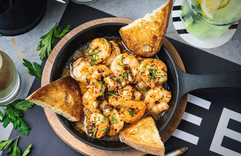 shrimp meal from anna maria island restaurant