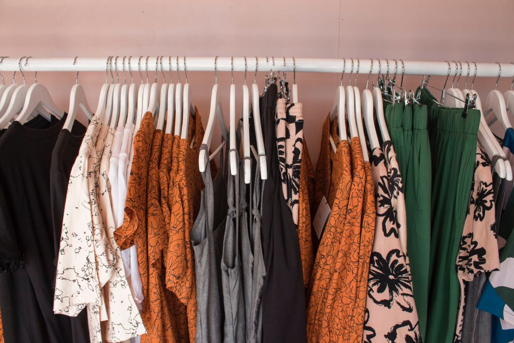 clothing rack in anna maria island store